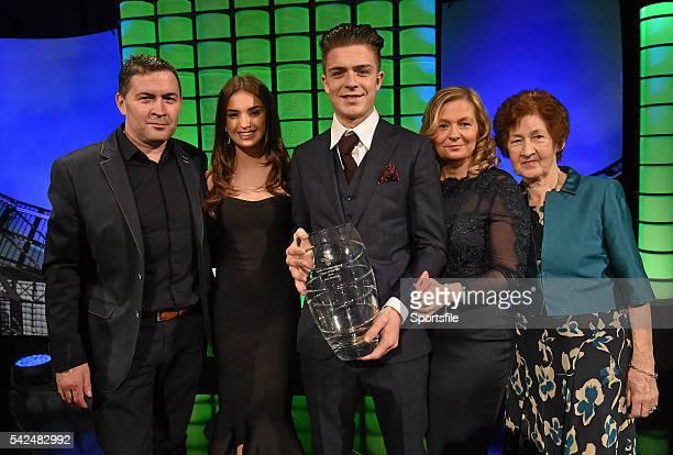 March 2015; Republic of Ireland International Jack Gealish, winner of the Republic of Ireland U21 player of the year award, with his girlfriend Sasha...