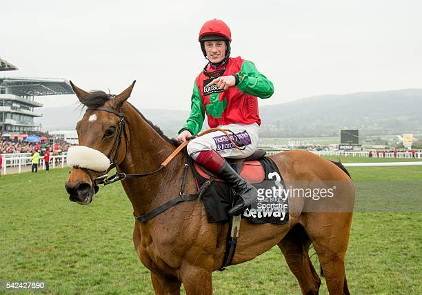 11 March 2015 Sam TwistonDavies on Dodging Bullets after winning the Queen Mother Champion Chase Cheltenham Racing Festival 2015 Prestbury Park...