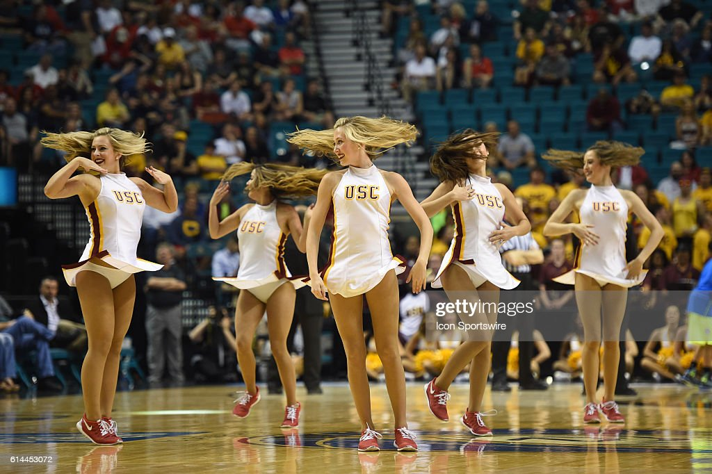 USC song girls during the Pac-12 Men's Basketball ...