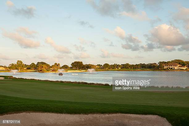 View of The 18th Hole at The Honda Classic at PGA National Resort Spa Champion Course in Palm Beach Gardens FL