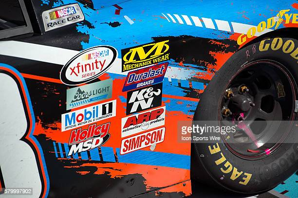 Detail view of Xfinity Series driver Kyle Busch's winning car after NASCAR's Axalta Faster. Tougher. Brighter. 200 Xfinity Series race at the Phoenix...
