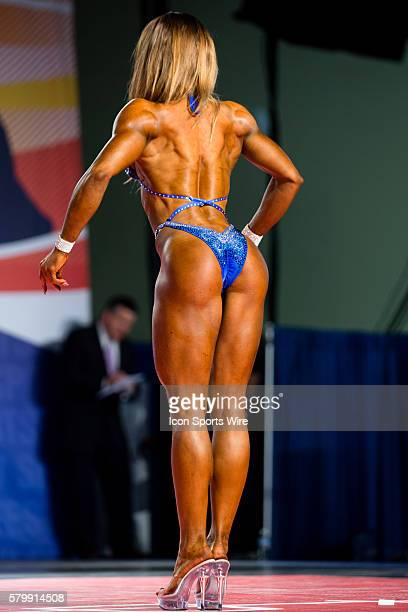 Adela Ondrejovicova competes in prejudging for Figure International as part of the Arnold Sports Festival at the Greater Columbus Convention Center...