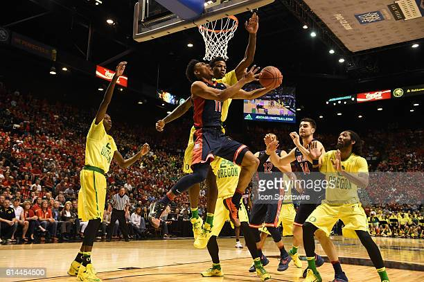 Arizona Allonzo Trier during the men's Pac12 Basketball Tournament game between the Arizona Wildcats and Oregon Ducks at MGM Grand Garden Arena in...