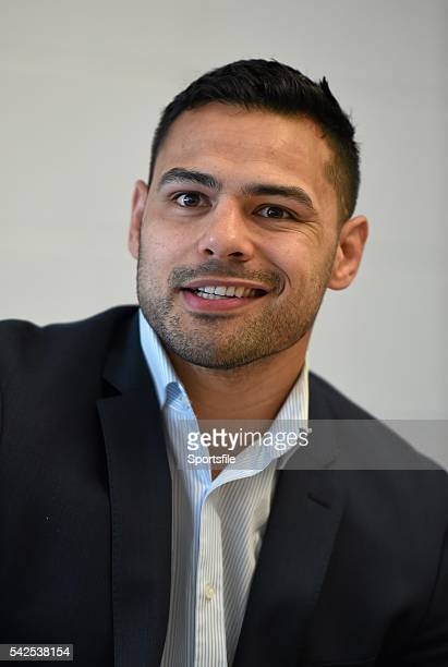 5 March 2016 Ben Te'o Leinster during the postmatch press conference Guinness PRO12 Round 17 Leinster v Ospreys RDS Arena Ballsbridge Dublin Picture...