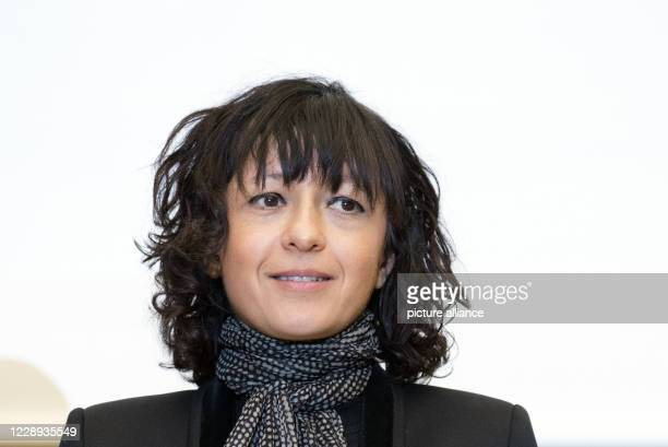 March 2016, Berlin: The French microbiologist Emmanuelle Charpentier at the award of the Gottfried Wilhelm Leibniz Prize. The scientist and her US...
