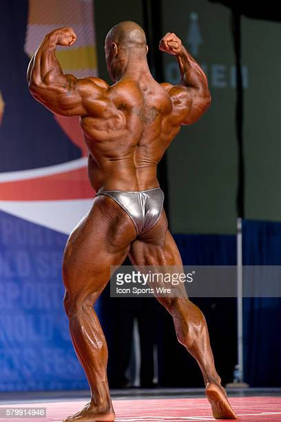 Cory Mathews competes in prejudging for the Arnold Classic 212 as part of the Arnold Sports Festival at the Greater Columbus Convention Center in...