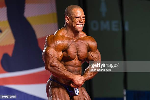 David Henry competes in prejudging for the Arnold Classic 212 as part of the Arnold Sports Festival at the Greater Columbus Convention Center in...