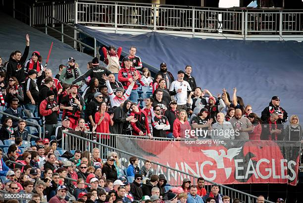 DC United fans the Screaming Eagles cheer for their team The New England Revolution and DC United played to a scoreless draw in a regular season MLS...