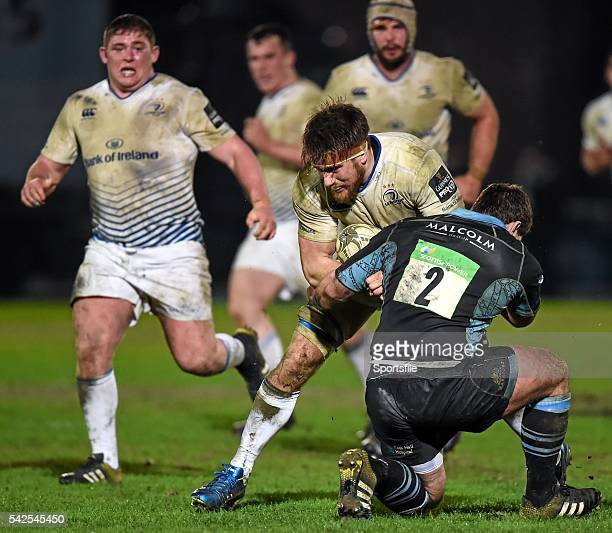18 March 2016 Dominic Ryan Leinster is tackled by Fraser Brown Glasgow Warriors Guinness PRO12 Round 9 Refixture Glasgow Warriors v Leinster...