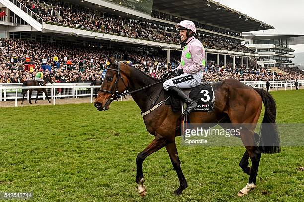 15 March 2016 Douvan with Ruby Walsh up after winning the Racing Post Arkle Challenge Trophy Steeple Chase Prestbury Park Cheltenham Gloucestershire...