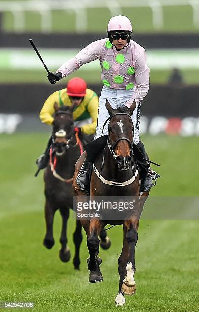 15 March 2016 Douvan with Ruby Walsh up on their way to winning the Racing Post Arkle Challenge Trophy Steeple Chase Prestbury Park Cheltenham...
