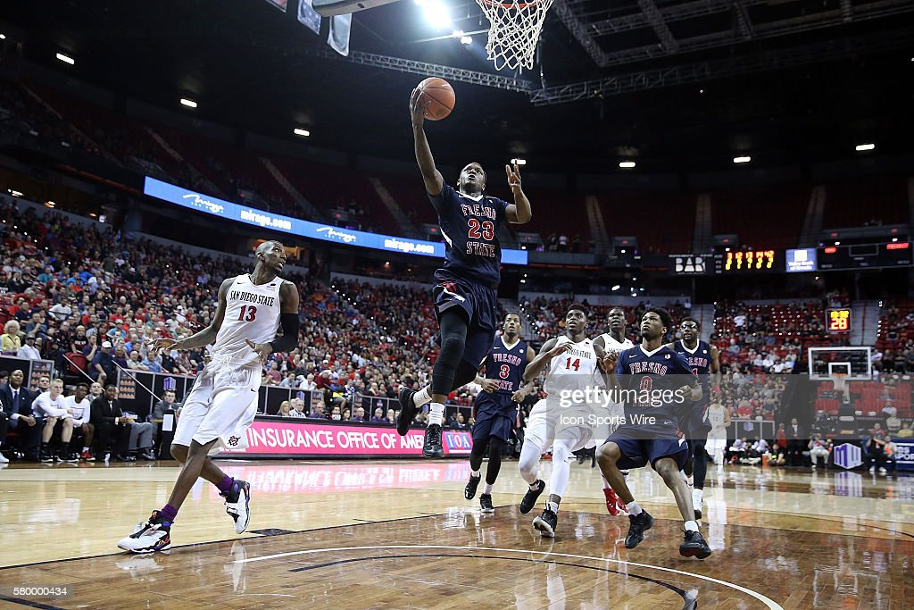 NCAA BASKETBALL: MAR 12 Mountain West Championship - Fresno State v San Diego State : News Photo
