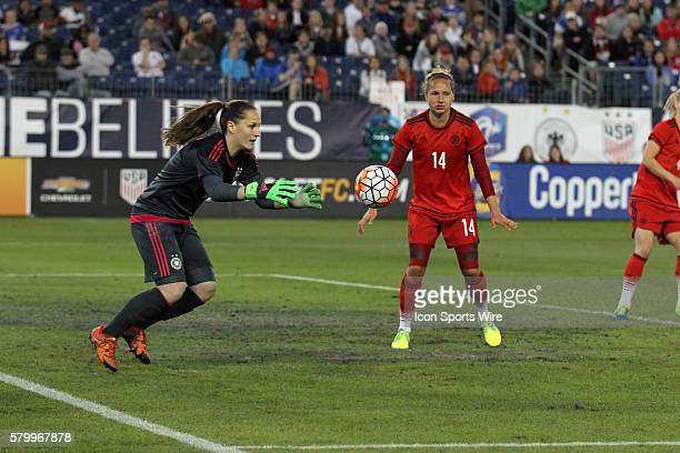 Germany goalkeeper Laura Benkarth makes a save in the second game of the SheBelieves Cup between England and Germany Germany defeated England by the...