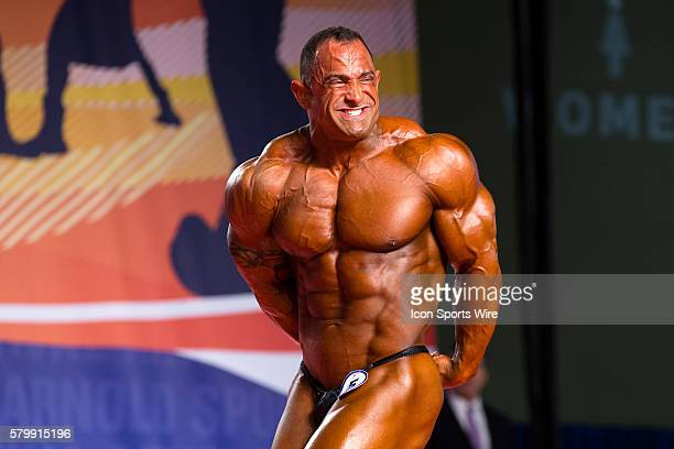 Guy Cisternino competes in prejudging for the Arnold Classic 212 as part of the Arnold Sports Festival at the Greater Columbus Convention Center in...