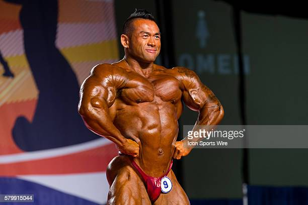 Hidetada Yamagishi competes in prejudging for the Arnold Classic 212 as part of the Arnold Sports Festival at the Greater Columbus Convention Center...