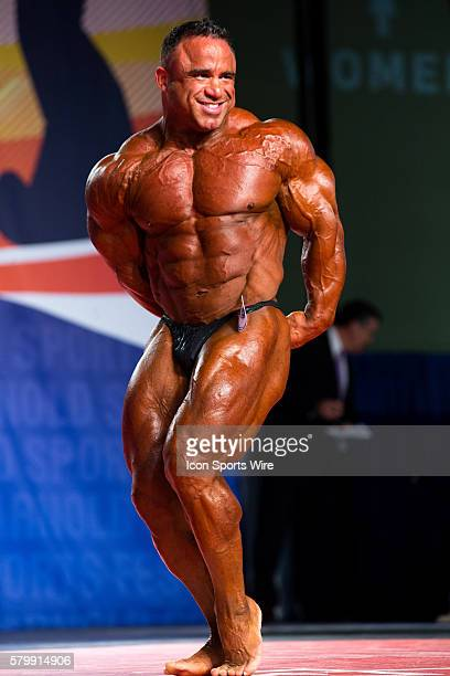 Jose Raymond competes in prejudging for the Arnold Classic 212 as part of the Arnold Sports Festival at the Greater Columbus Convention Center in...