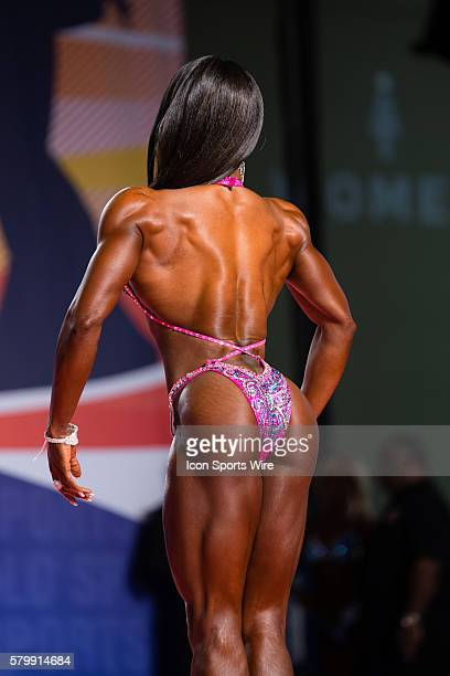 Latorya Watts competes in prejudging for Figure International as part of the Arnold Sports Festival at the Greater Columbus Convention Center in...