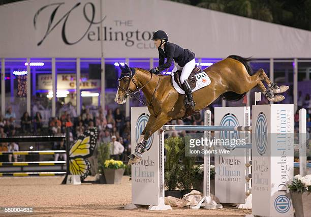 Lillie Keenan rides during the Douglas Elliman CSI 5 Grand Prix during the Winter Equestrian Festival at The Palm Beach International Equestrian...