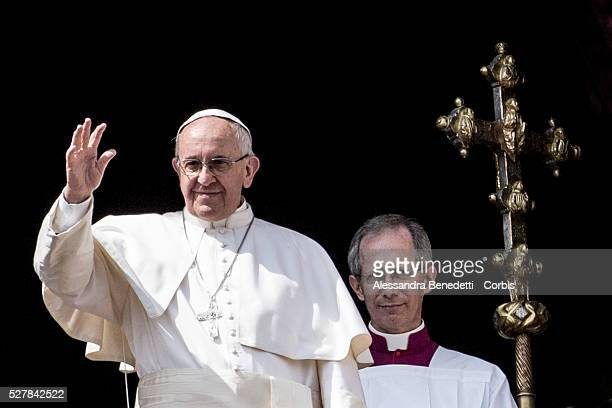 27 March 2016 Rome Italy Pope Francis Leads the Easter Mass and delivers the Urbi et Orbi message and blessing to the world in St Peter's Square at...