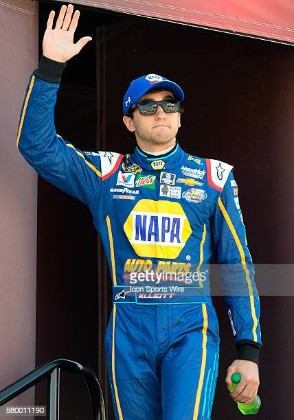 Sprint Cup Series driver Chase Elliott is introduced to fans before the 12th annual Good Sam 500 NASCAR Sprint Cup Series race at Phoenix...