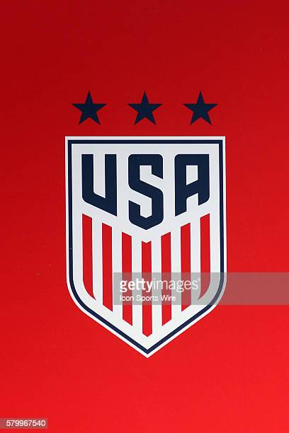 The new USA Soccer crest on display at the second game of the SheBelieves Cup between the United States and France The USA defeated France by the...