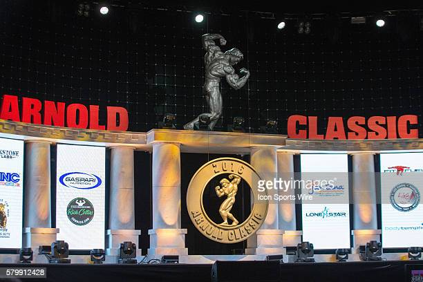 The stage prior to competition at the Arnold Amateur Bodybuilding Fitness Figure Bikini and Physique Championships as part of the Arnold Sports...