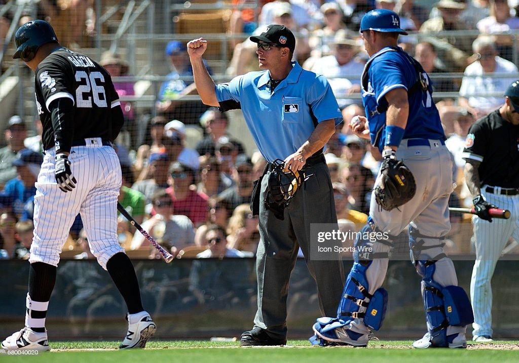 MLB: MAR 19 Spring Training - Dodgers at White Sox : News Photo