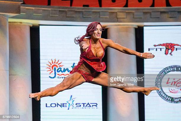 Vanessa Bousquet competes in Women's Fitness at the Arnold Amateur Bodybuilding Fitness Figure Bikini and Physique Championships as part of the...