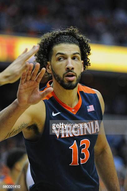 Virginia Cavaliers forward Anthony Gill in action in the final of the ACC Tournament at the Verizon Center in Washington DC where the North Carolina...
