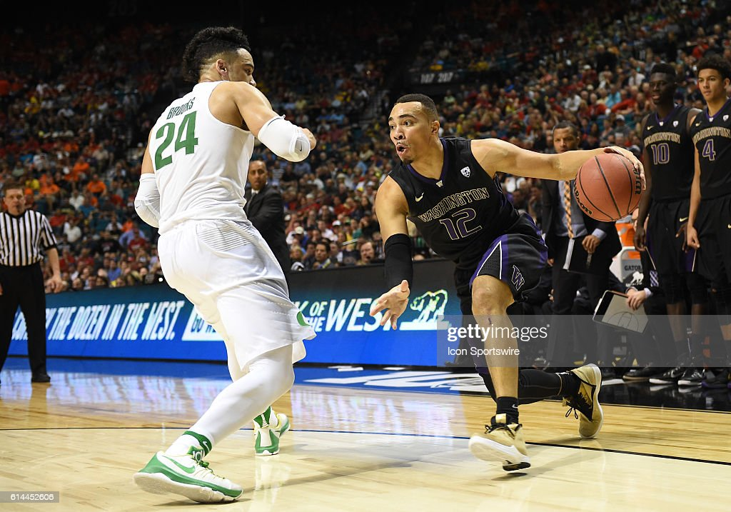 NCAA BASKETBALL: MAR 10 PAC-12 Tournament - Washington v Oregon : News Photo