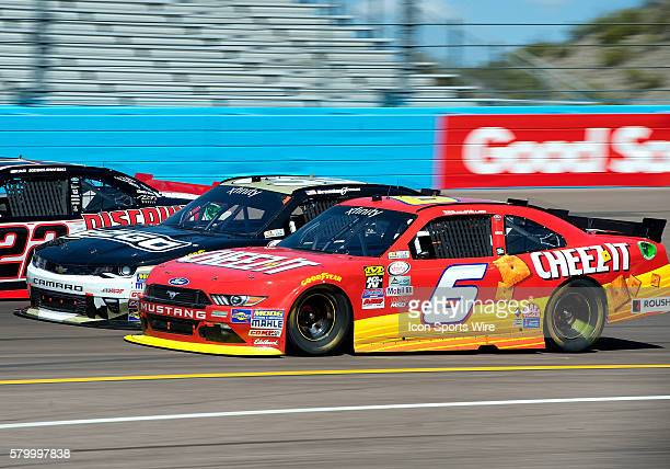 Xfinity Series driver Darrell Wallace Jr. Fights for position with Brandon Jones during NASCAR's Axalta Faster. Tougher. Brighter. 200 Xfinity Series...