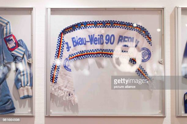 A scarf of the club hangs in their club's casino 'Zur Halbzeit' on the wall In the year 1986/87 BlauWeiß belonged to the best 18 teams in Germany...