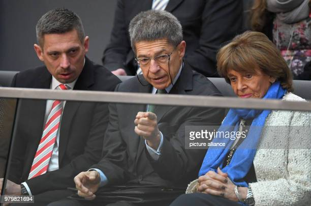 Daniel Sauer Merkel's husband Joachim Sauer and Charlotte Knobloch sitting in the gallery at the election of the German Chancellor in the Reichstag...