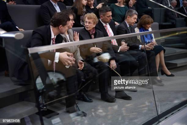 Government spokesperson Steffen Seibert office manager Beate Baumann mother of German Chancellor Angela Merkel Herlind Kasner the son of Merkel's...