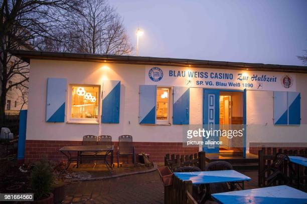 The club's casino 'Zur Halbzeit' on the wall In the year 1986/87 BlauWeiß 90 belonged to the best 18 teams in Germany Nowadays the soccer club plays...