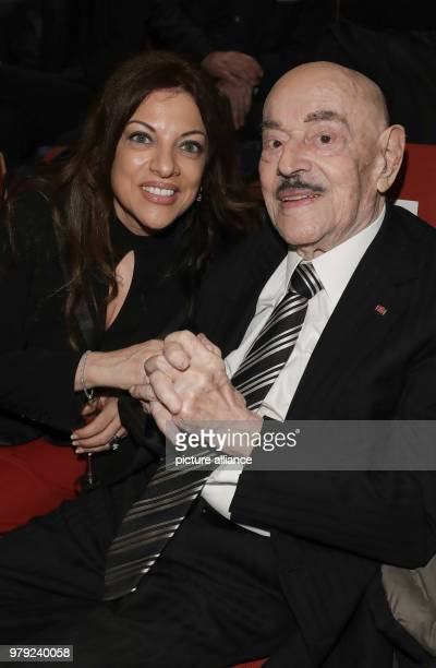 The film producer Artur Atze Brauner and his daughter Alice Brauner arrive for the festive event on the occasion of the 50th anniversary of the...