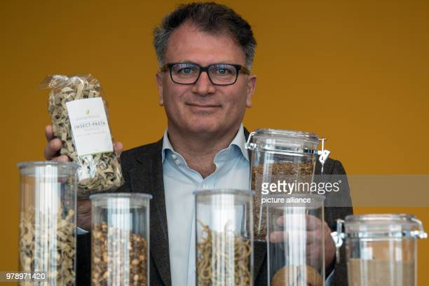 Daniel Mohr founder and CEO of the PlumentoFoods company presents products of his company The Metro group from Duesseldorf began the sale of mealworm...