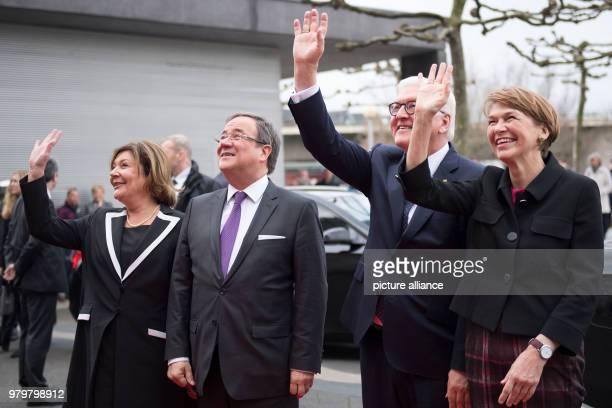 German President FrankWalter Steinmeier Minister President Armin Laschet of the Christian Democratic Union Steinmeier's wife Elke Buedenbender and...