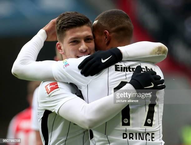 17 March 2018 Germany Frankfurt am Main Football Bundesliga Eintracht Frankfurt vs FSV Mainz 05 at the CommerzbankArena Frankfurt's Luka Jovic...
