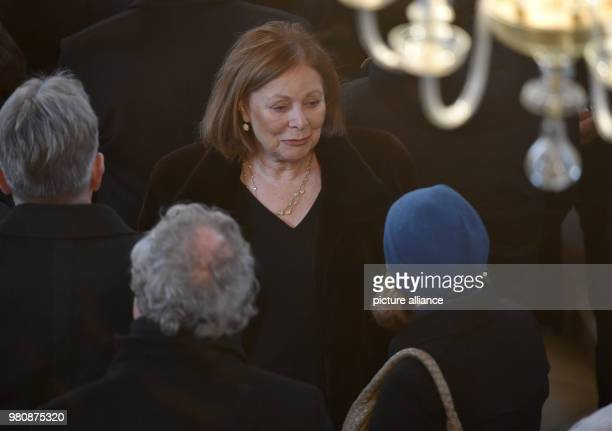 The 'Traumschiff' actress Heide Keller attends the memorial service for actor Rauch The actor died of heart failure on 11 March at the age of 85...