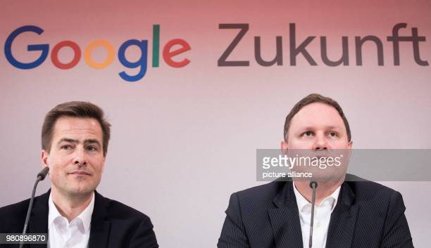Carsten Brosda of the Social Democratic Party senator for culture and media in Hamburg and Philipp Justus vice president of Google Central Europe...