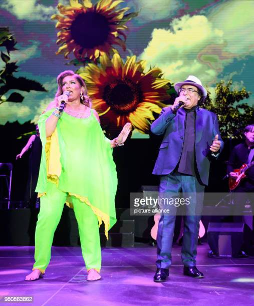 Italian duo Al Bano and Romina Power perform the first concert of their farewell tour at the Sporthalle venue Photo Daniel Reinhardt/dpa
