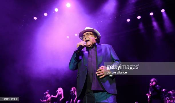 Italian musician Al Bano gives the first concert of his farewell tour at the Sporthalle venue Photo Daniel Reinhardt/dpa