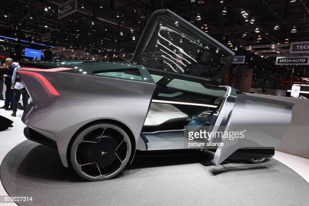 The Icona Nucleus is presented on the first press day at the Geneva Motor Show It is an electrical autonomous concept car The 88th Geneva Motor Show...
