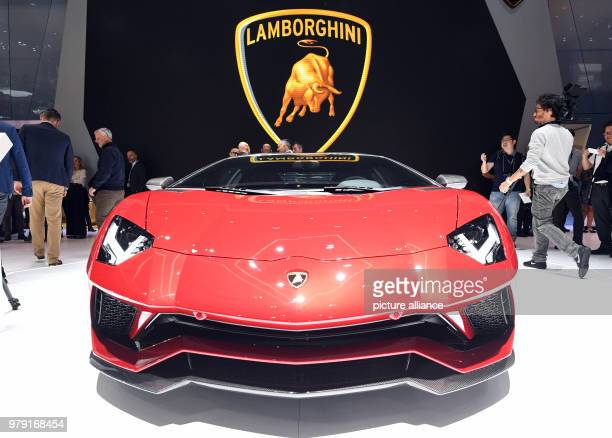 The Lamborghini 834 Aventador being presented during the first press day of the Geneva Motor Show The 88th Geneva Motor Show starts on 08 March and...
