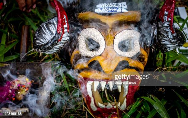 """March 2019, Argentina, Salta: The carnival group """"Los Inca"""" begins the celebrations with the ritual of worship of Mother Earth . For more than 35..."""