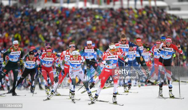 Nordic skiing world championship crosscountry 30 km mass start freestyle ladies Victoria Carl from Germany Ebba Andersson from Sweden Therese Johaug...
