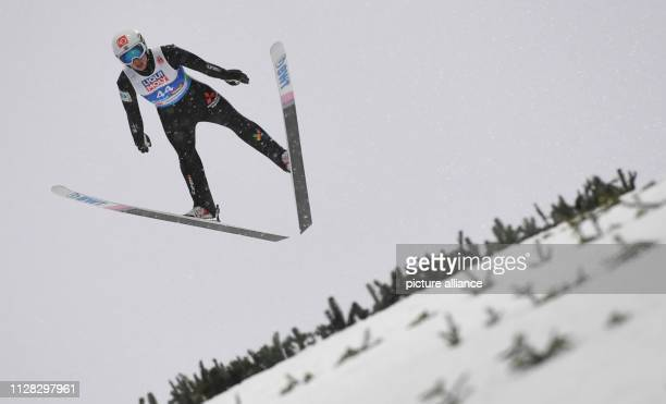 Nordic skiing world championship ski jumping normal hill men 1st round Johann Andre Forfang from Norway jumps off the hill Photo Hendrik...
