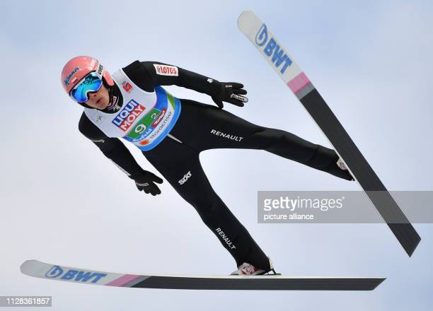 Nordic skiing World championship ski jumping team jumping mixed Dawid Kubacki from Poland in action Photo Hendrik Schmidt/dpaZentralbild/dpa