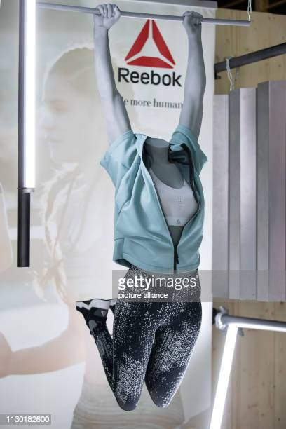 f63f76d082bc Sportswear from Reebok a subsidiary of sporting goods manufacturer adidas  will be exhibited in a showroom